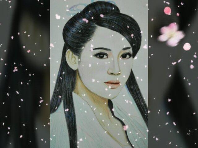 小影 #彩铅手绘##古装美女#没有时间录视频但是也没闲着,都是上个月画